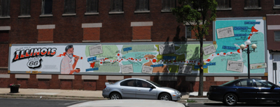 Waldmire Mural - painted map of route 66