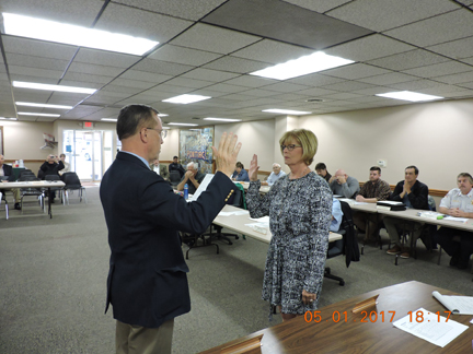 City Treasurer Takes Oath of Office