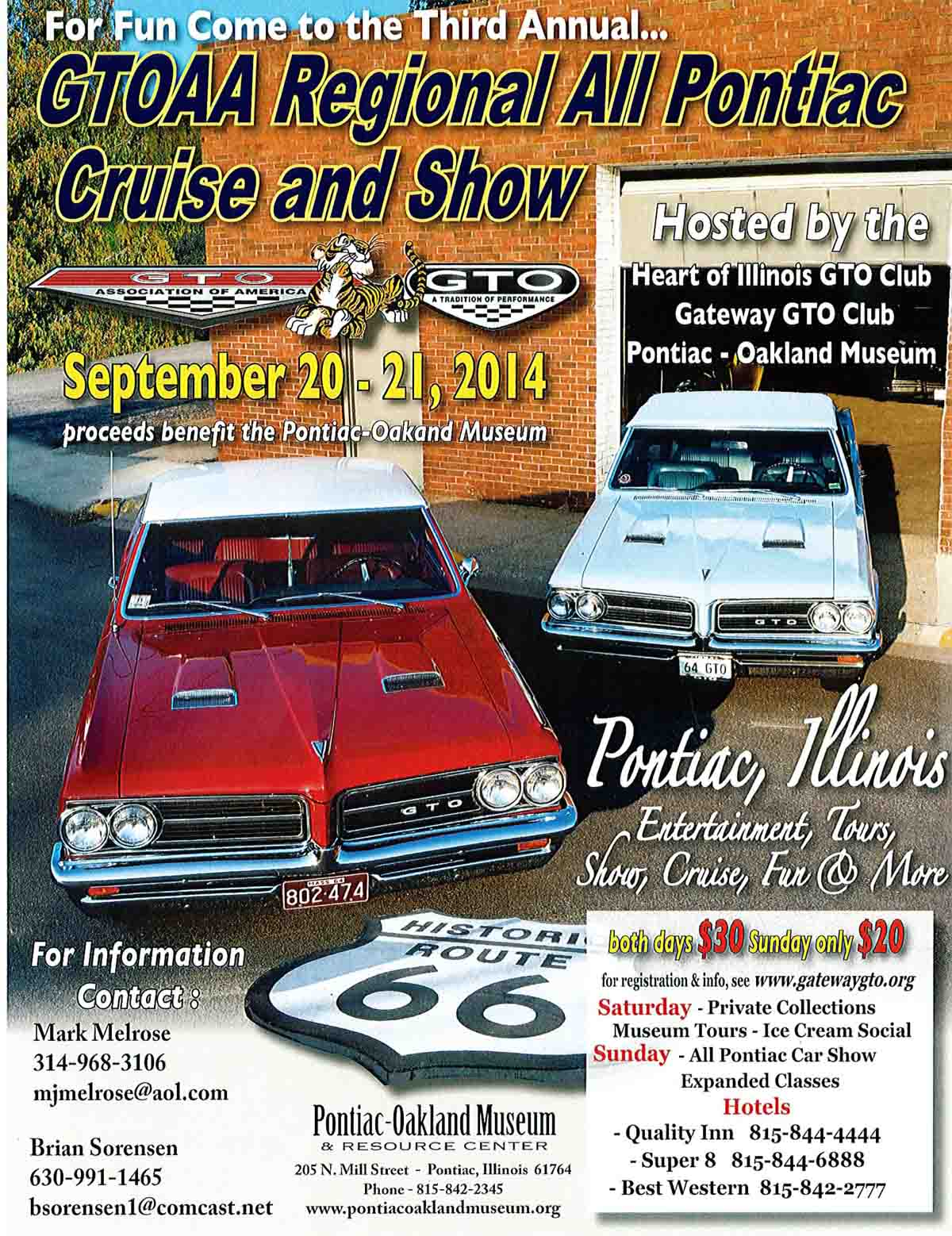 Pontiac IL Official Website - Oakland car show