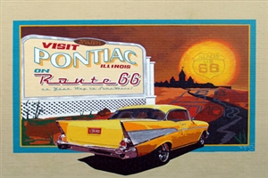 Route 66 Chevy Mural