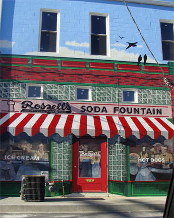 Roszell's Soda Fountain Mural